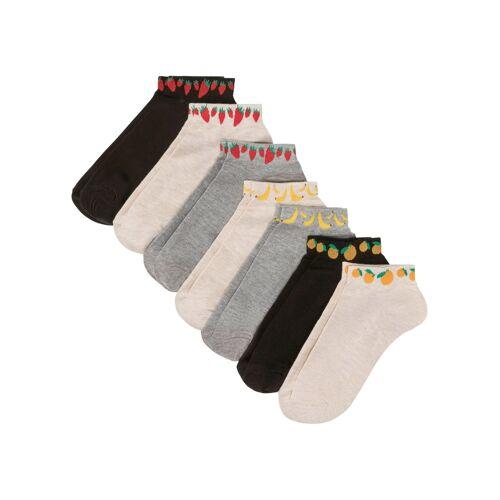 bonprix Sneaker Socken (7er-Pack) rot