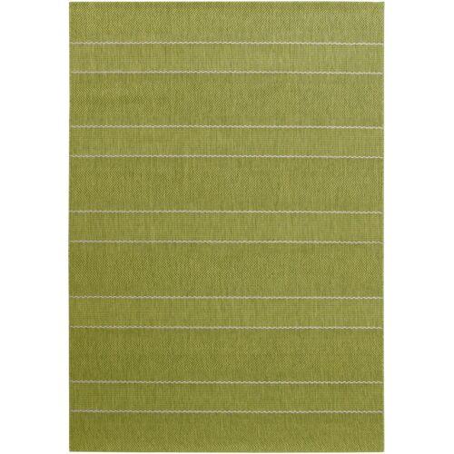 bonprix In- und Outdoor Teppich mit dezenten Streifen grün