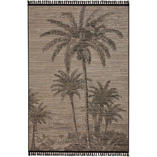 bonprix Teppich mit Palmenmotiv grau