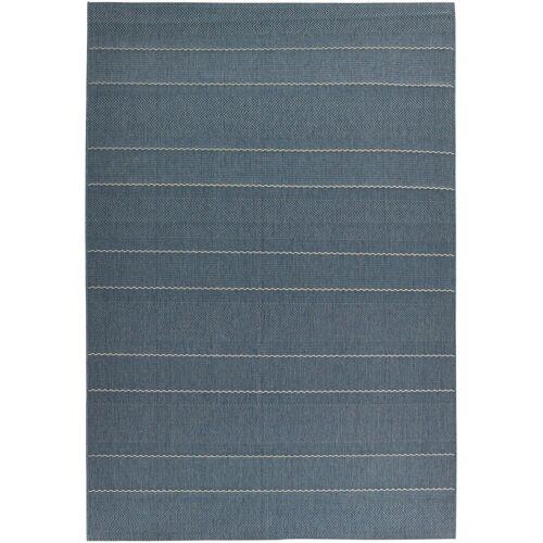 bonprix In- und Outdoor Teppich mit dezenten Streifen blau