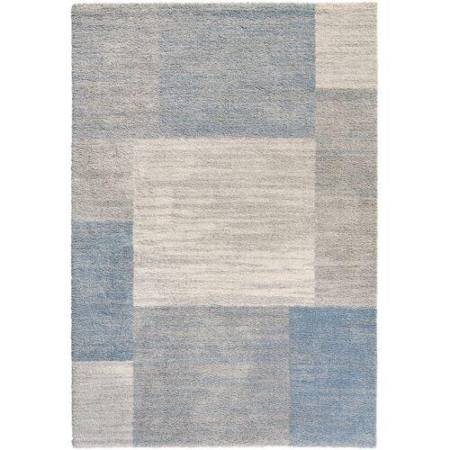 bonprix Teppich mit Pastellfarben blau