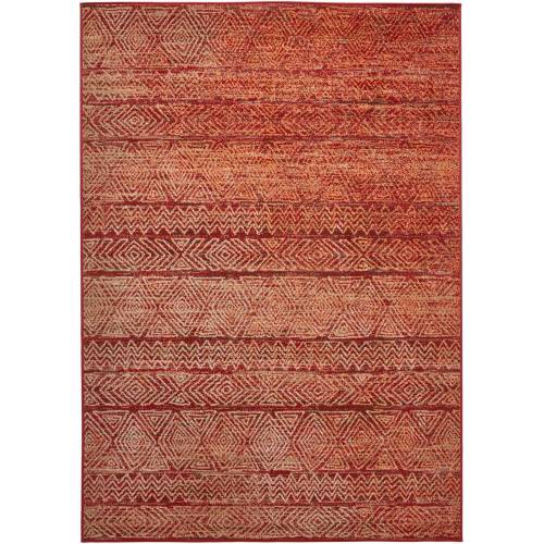 bonprix Teppich mit dezenter Struktur rot