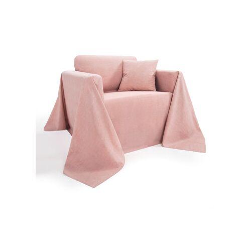 bonprix Tagesdecke in Leinen-Optik rosa
