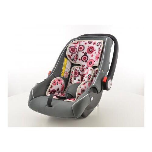 FK-Automotive Kinderautositz Babyschale Autositz schwarz/weiß/pink Gruppe 0+, 0-13 kg