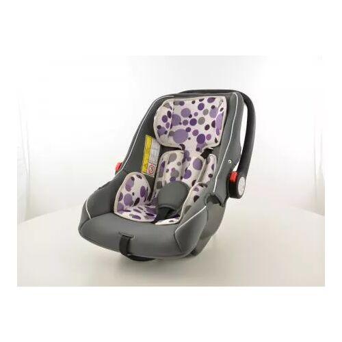 FK-Automotive Kinderautositz Babyschale Autositz schwarz/weiß/lila Gruppe 0+, 0-13 kg