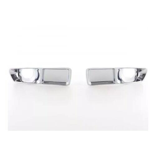 FK-Automotive Lufteinlass Blenden Set Air Intake chrom VW Polo (6N) chrom Lufteinlass Lüftungsgitter