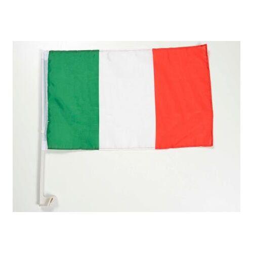FK-Automotive Autofahne Autoflagge Italien Fahne mit Halterung für Seitenfenster 30x45cm