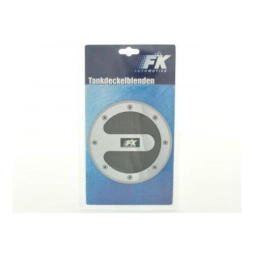 FK-Automotive Tankdeckelblende Fuel Cap Alu Look M2 Ø120 Abdeckung Tankdeckel