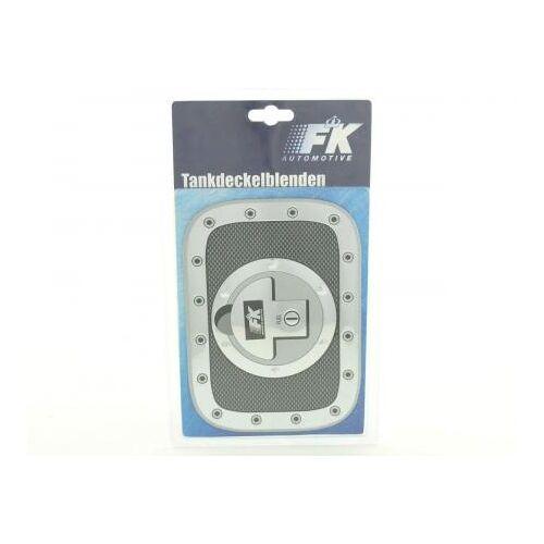 FK-Automotive Tankdeckelblende Fuel Cap Alu Look 180x131 Abdeckung Tankdeckel