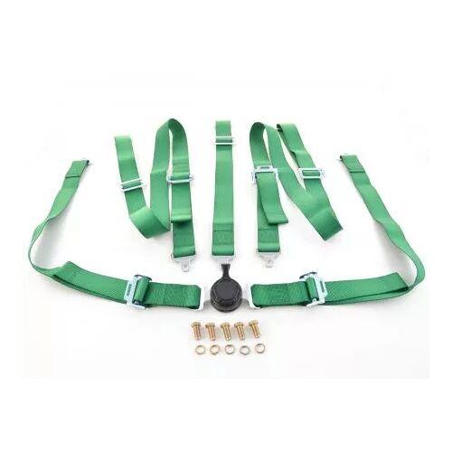 FK-Automotive Hosenträgergurt 5-Punkt Gurt Renngurt universal grün