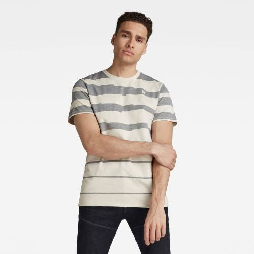 G-Star RAW Herren Pixalated Stripe T-Shirt Beige