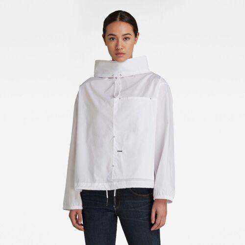G-Star RAW Damen Long Sleeve Mock Neck Hemd Weiß