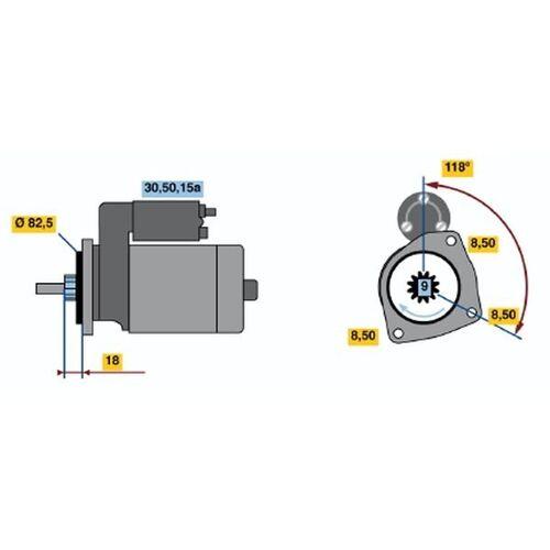 ILTIS (183) Starter Bosch 0 986 010 350 ILTIS (183)