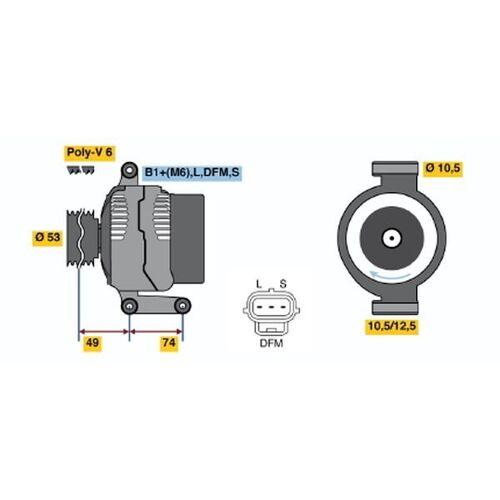 Ignis Starter Bosch 0 986 023 230 IGNIS I (FH)