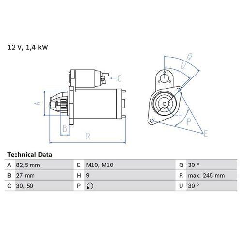 SALOON (W124) Starter Bosch 0 986 013 010 SALOON (W124)
