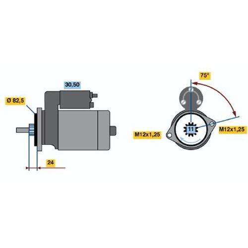 WILDCAT/ROCKY (F75) Starter Bosch 0 986 013 991 WILDCAT/ROCKY (F75)