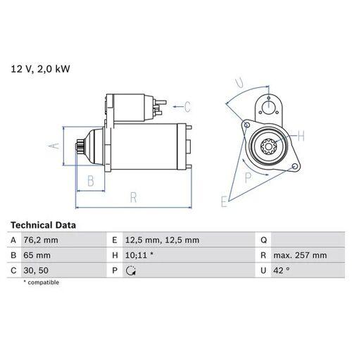 SHARAN (7M8, 7M9, 7M6) Starter Bosch 0 986 018 390 SHARAN (7M8, 7M9, 7M6)
