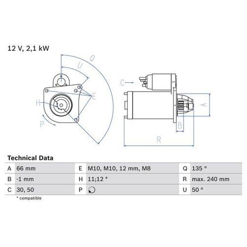 CARISMA (DA) Starter Bosch 0 986 020 131 CARISMA (DA)