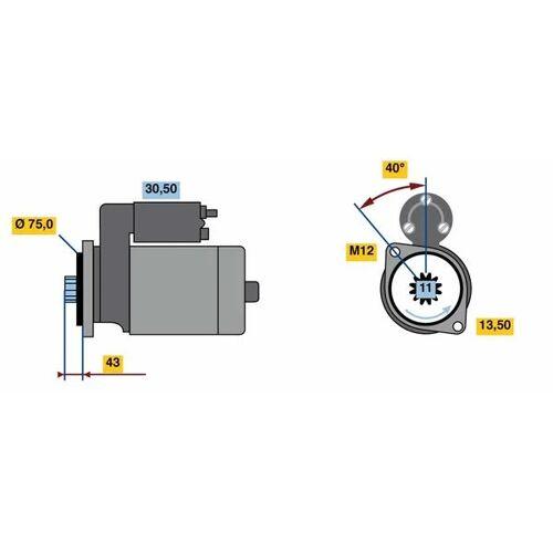 CIVIC VI Aerodeck (MB, MC) Starter Bosch 0 986 022 950 CIVIC VI Aerodeck (MB, MC)