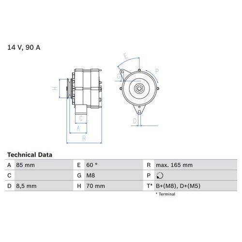 QUATTRO (85) Generator Bosch 0 986 034 160 QUATTRO (85)