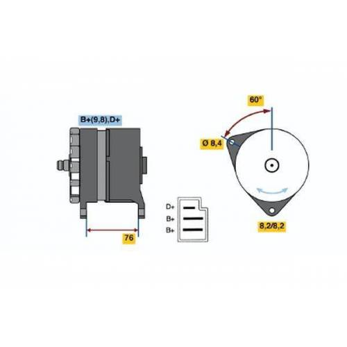SPITFIRE Generator Bosch 0 986 044 581 SPITFIRE