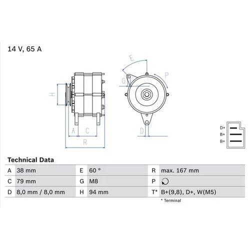 MONTEGO Generator Bosch 0 986 044 591 MONTEGO