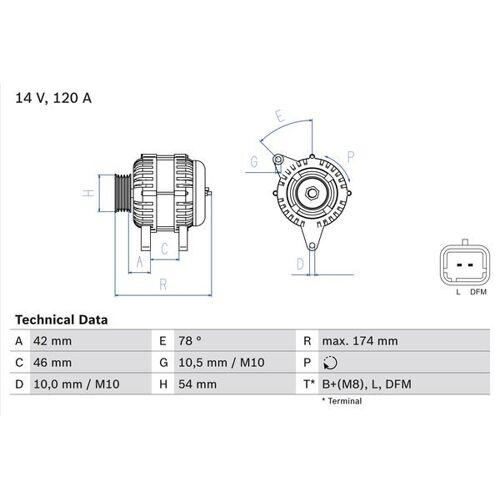 C-ELYSEE Generator Bosch 0 986 049 091 C-ELYSEE