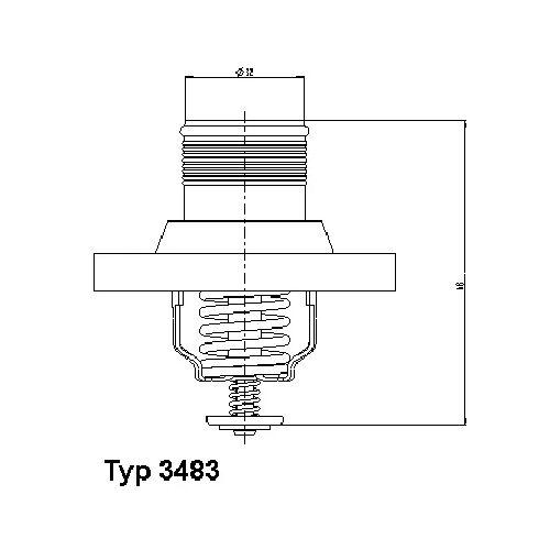 C5 II (RC) Thermostat, Kühlmittel Wahler 3483.89D C5 II (RC)