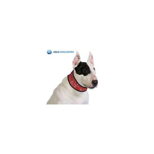 Animal Gear Europe Aqua Coolkeeper Kühlendes Halsband für Hunde Red Rot Western XXL 55-60 x 8.5 cm
