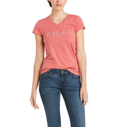 Ariat Amaranth 3D Logo T-Shirt Damen , , ,  amaranth