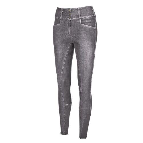 Pikeur Candela 3/4-Grip Jeans Reithose Damen ,  light grey