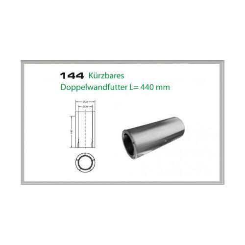Wanddurchführung kürzbar 440mm für Schornsteinsets 200mm DW5