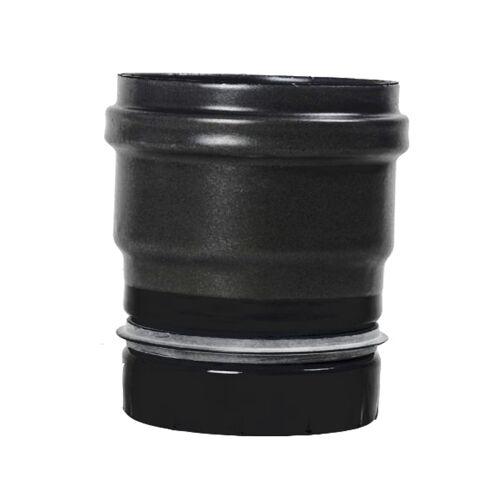 Pellet- Ofenrohr Ofenanschluss mit Dichtung DN 100mm matt-schwarz emailliert