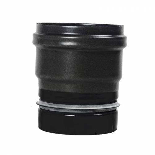Pellet- Ofenrohr Ofenanschluss mit Dichtung DN 80mm matt-schwarz emailliert