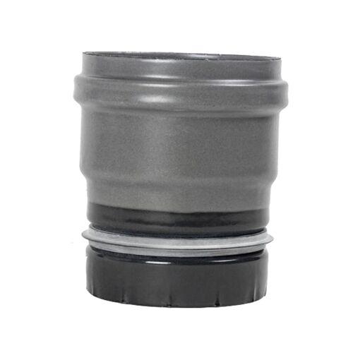 Pellet- Ofenrohr Ofenanschluss mit Dichtung DN 80mm gussgrau emailliert