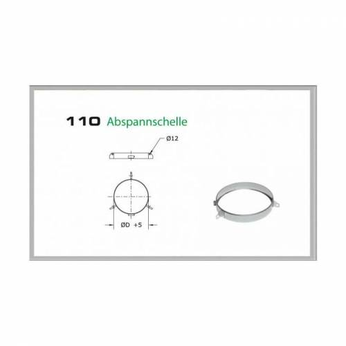 110/DN250 DW6 Abspannschelle