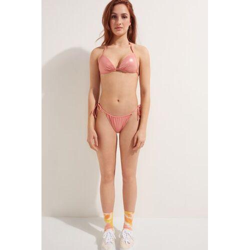 Tezenis Bikinihose zum Binden Shiny Nude Frau  Größe S