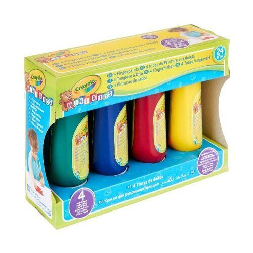 Goliath Toys Crayola - Mini Kids - Auswaschbare Fingerfarben 4 Tuben