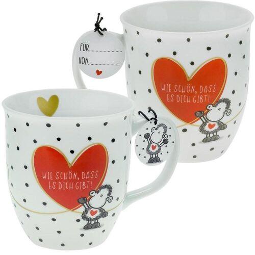 Sheepworld AG Sheepworld 46218 Tasse mit Motivdruck:Wie schön dass es dich gibt! mit Geschenktag