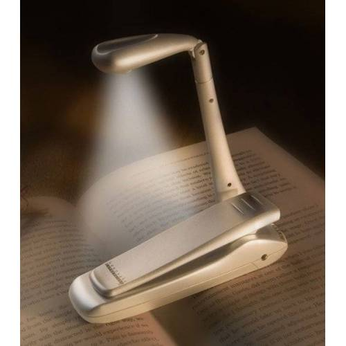 Bookchair Vertrieb Clip-On Booklight - Silber - Leselampe