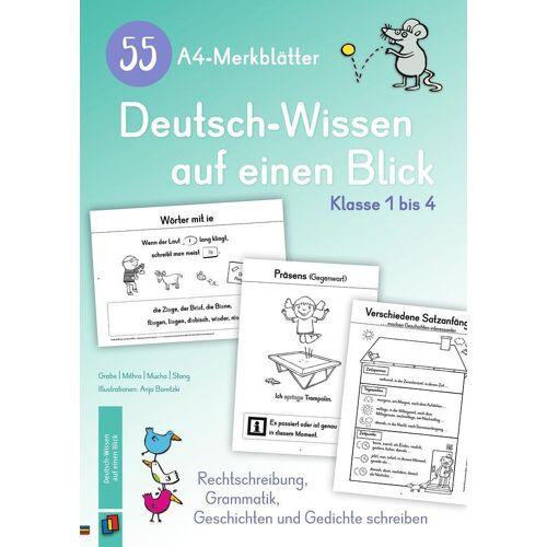 Verlag an der Ruhr GmbH 55 A4-Merkblätter Deutsch-Wissen auf einen Blick - Klasse 1 bis 4
