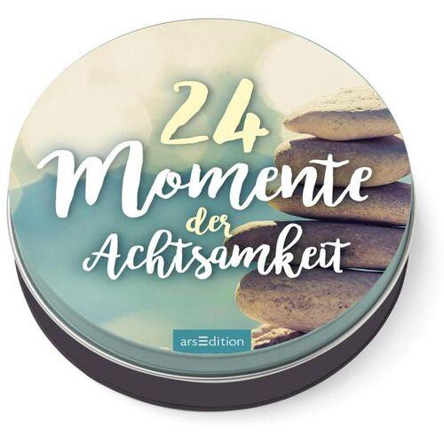 arsEdition 24 Momente der Achtsamkeit - Ein Adventskalender in der Dose mit 24 Anti-Stress-Kärtchen für den Advent
