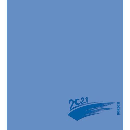 Korsch Verlag GmbH Foto-Malen-Basteln Bastelkalender blau 2021