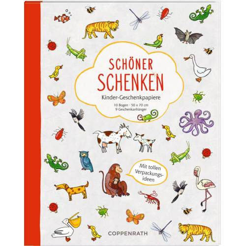 Coppenrath Verlag - Geschenkpapierbuch -Schöner schenken -Kinder-Geschenkpapiere