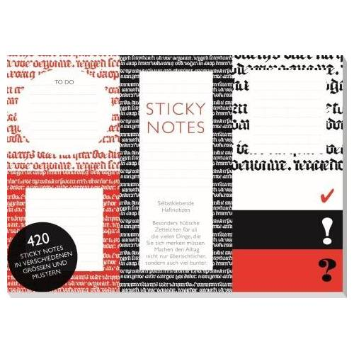 CEDON MUSEUMSSHOPS GMBH Hugendubel Sticky Notes Schwarz-Rot