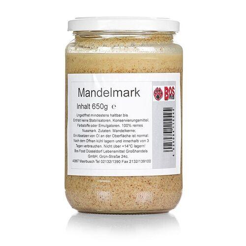 BOS FOOD Mandel-Mark, 100% Mark ohne Zusatzstoffe, 650 g