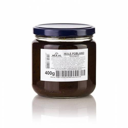 Mole Poblano, mexikanische Schokoladensauce, pikant, 400 g