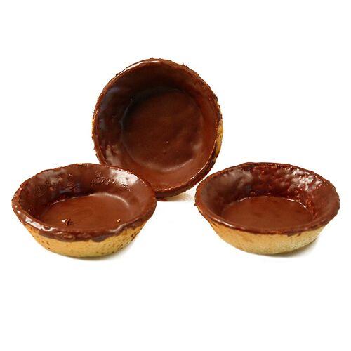Dessert-Tartelettes, rund, ø 7cm, H 2cm, Mürbeteig/Schokoglasur, 2,52 kg, 140 St