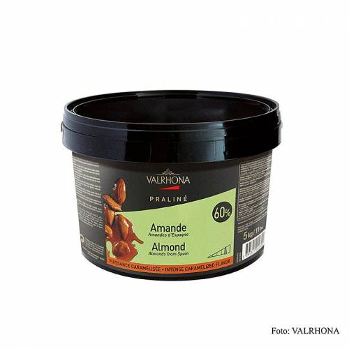 Praliné Masse fein, 60% Mandel, intensive Nuss- und kräftige Karamellnoten, 5 kg