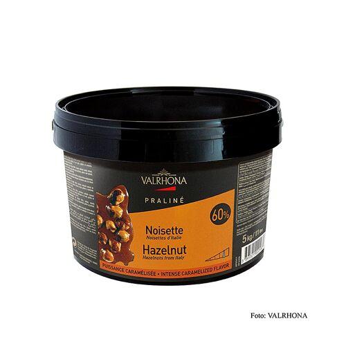 Praliné Masse fein, 60% Haselnuss, intensive Nuss- und kräftige Karamellnoten, 5 kg